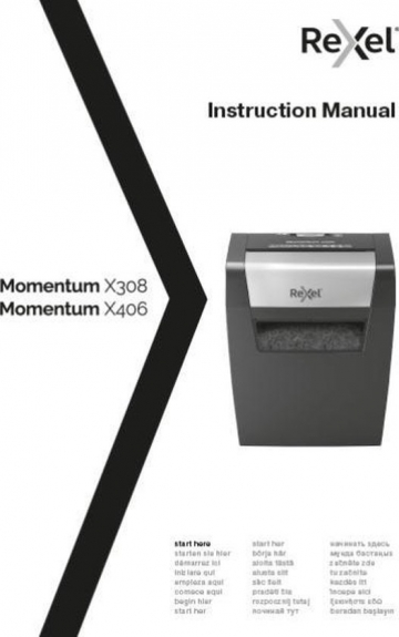Rexel Momentum X406 handleiding