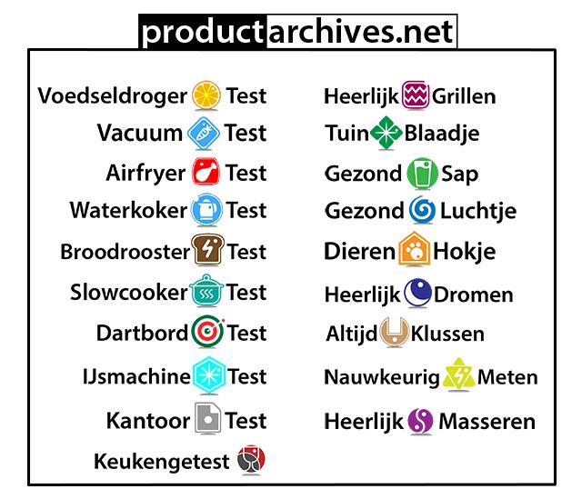 Productarchives Kantoortest